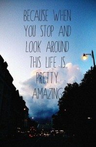quote saying life is amazing